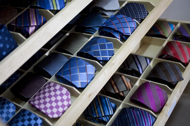 come sistemare le cravatte