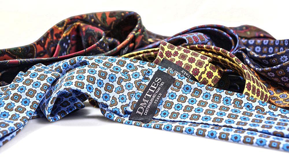 Cravatte in seta madder