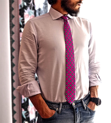 Cravatta slim stretta