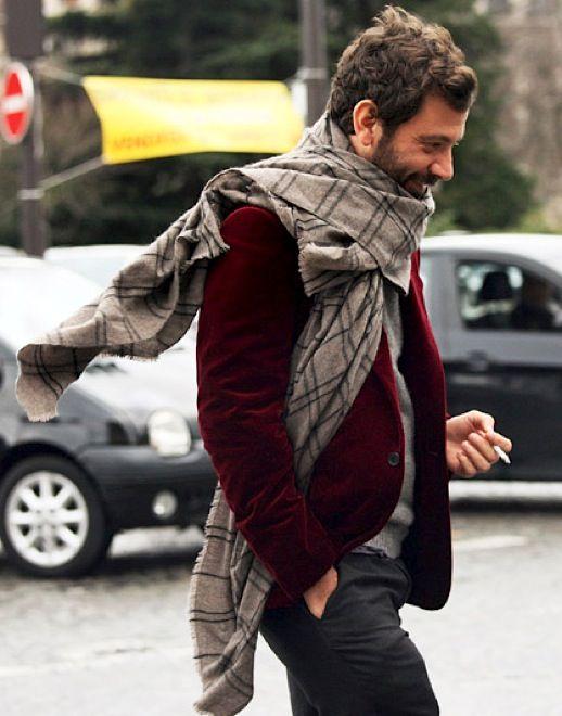 uomo sciarpa