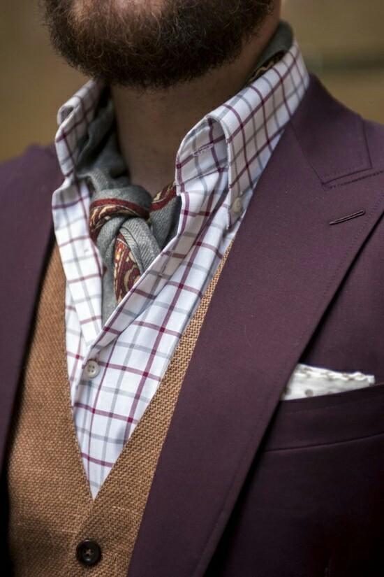 Foulard maschile con camicia