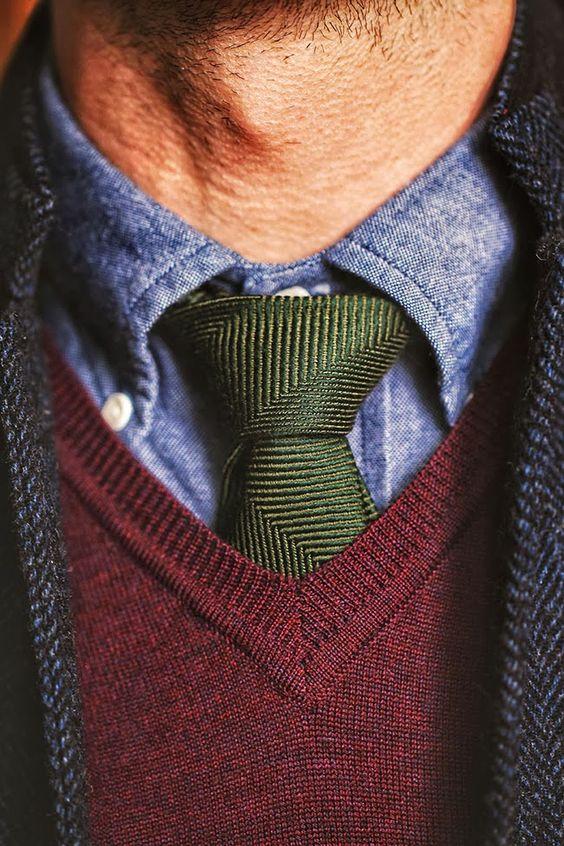 Cravatta verde regalo per papà