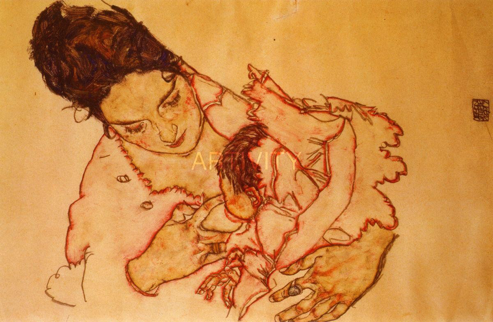 Egon Schiele, Nursing mother, 1917