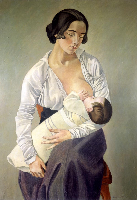 Gino Severini, Madre che allatta, 1916