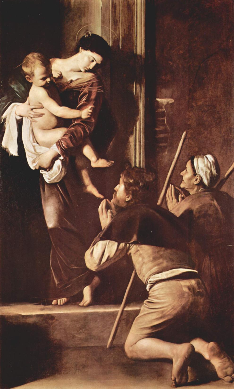 Caravaggio, Madonna dei pellegrini o di Loreto, 1604-1606