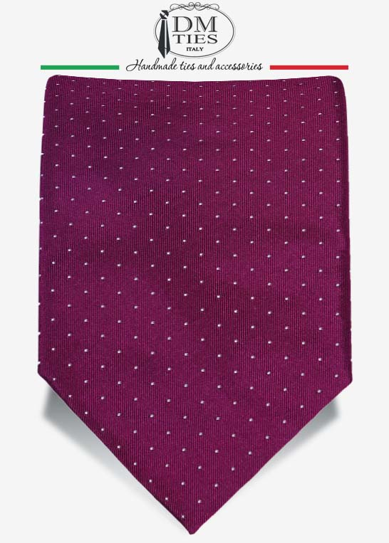 cravatta viola a pois da cerimonia alternativa