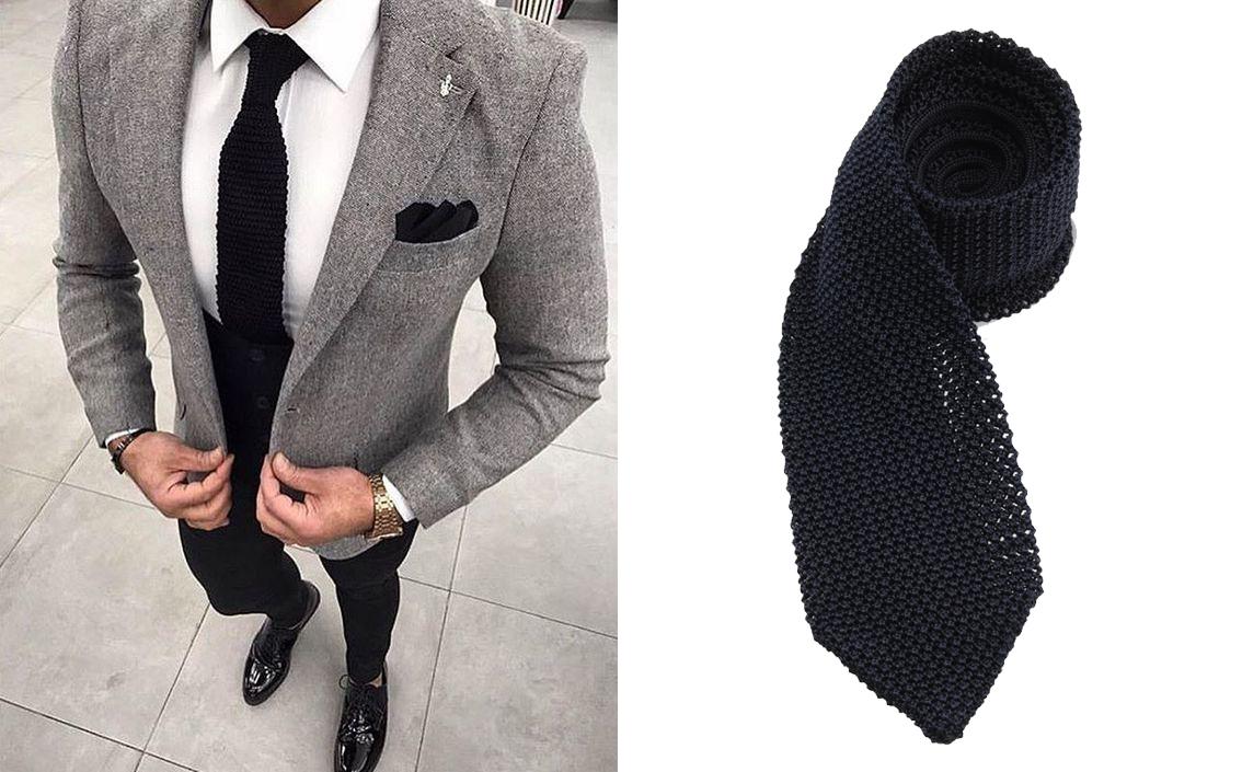 cravatta blu navy