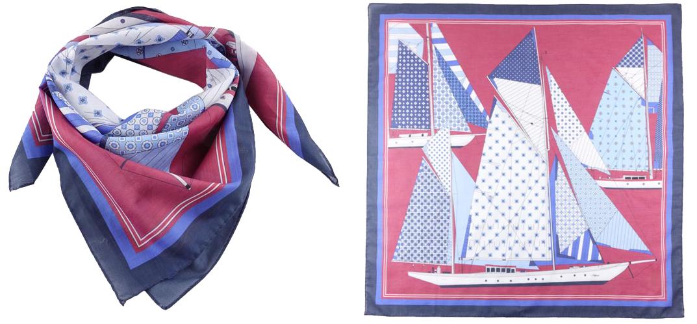 foulard unisex navy