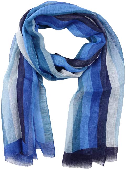 foulard uomo blu lino