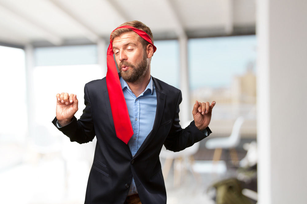 cravatta per una festa di lavoro