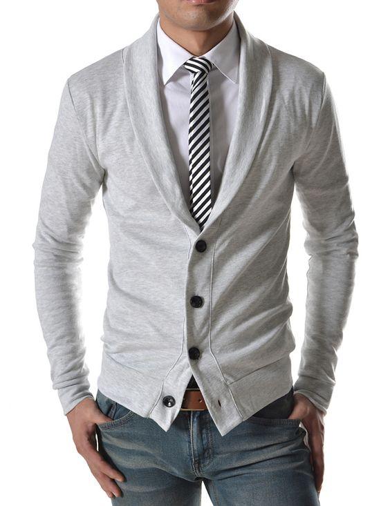 jeans cravatta e cardigan