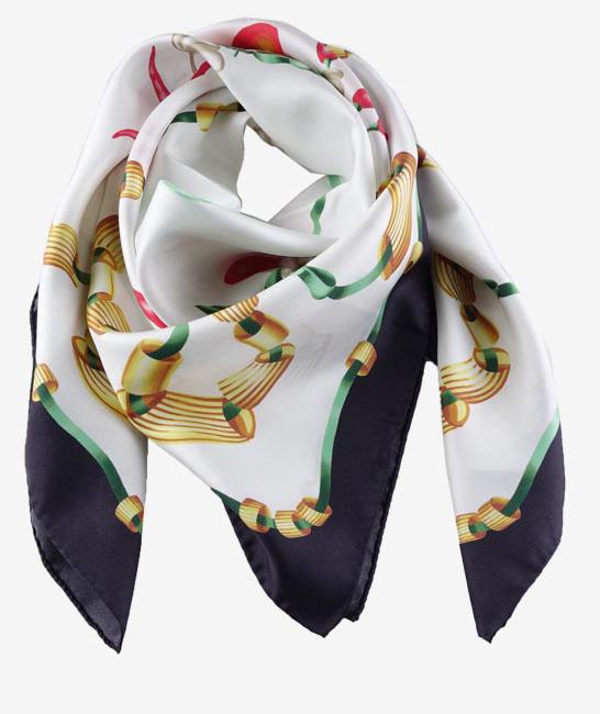 foulard seta orlato a mano