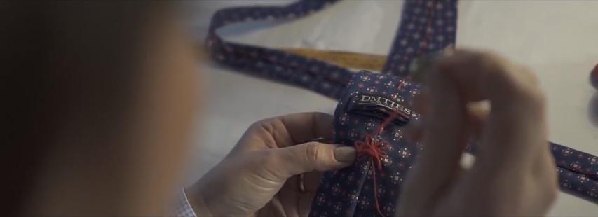 cravatta fatta a mano