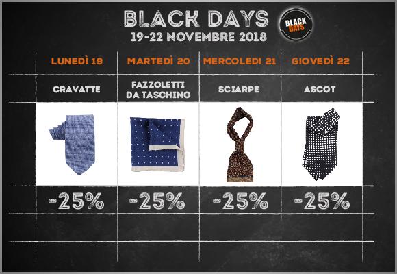 black days calendario