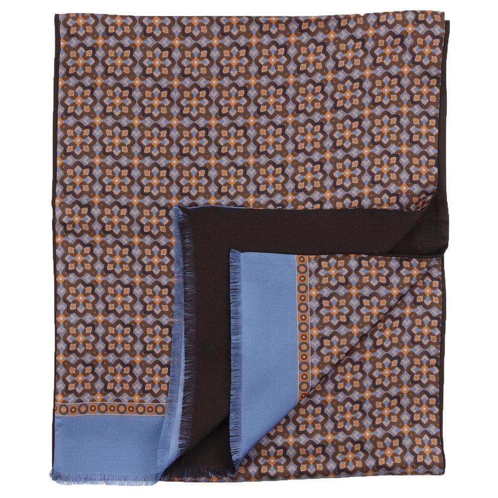 sciarpa seta marrone