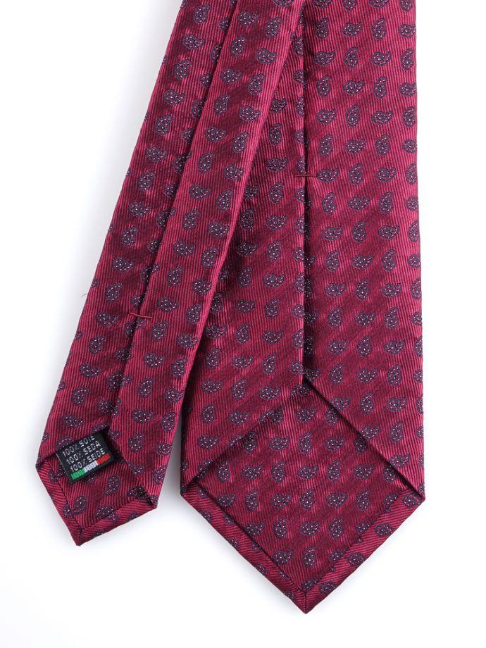 Cravatta seta fantasia cachemire