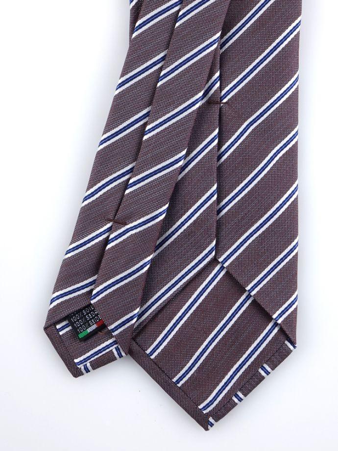 cravatta regimental mogador: una striscia larga è intervallata da due più strette