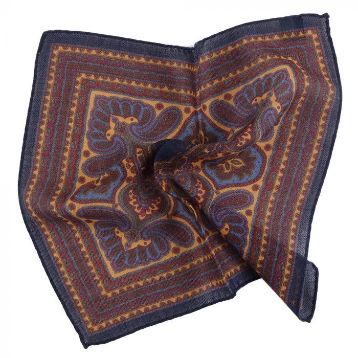 Fazzoletto da taschino in lana fantasia paisley