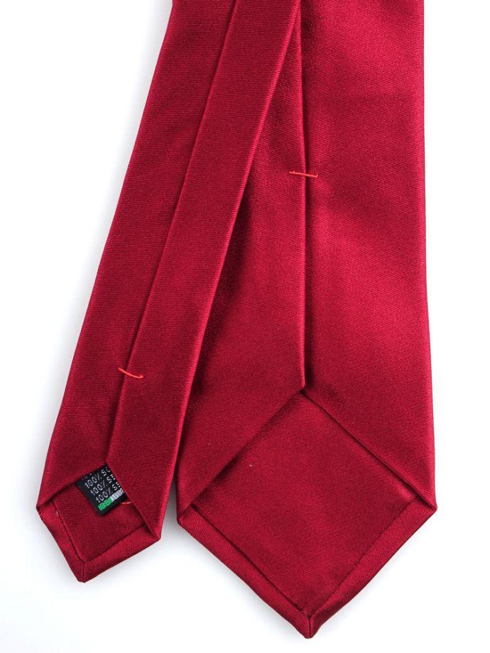 Cravatta in seta raso rosso antico