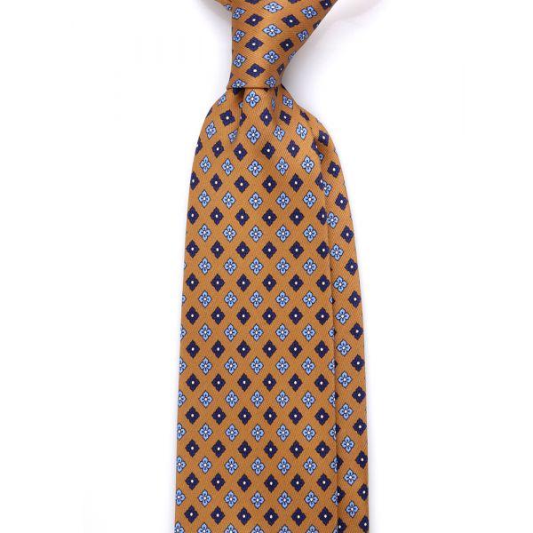 cravatta tre pieghe seta lusso beige