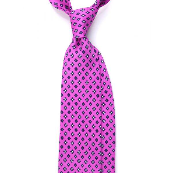 cravatta tre pieghe in seta lusso lilla