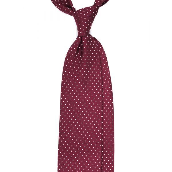 cravatta seta panama bordeaux