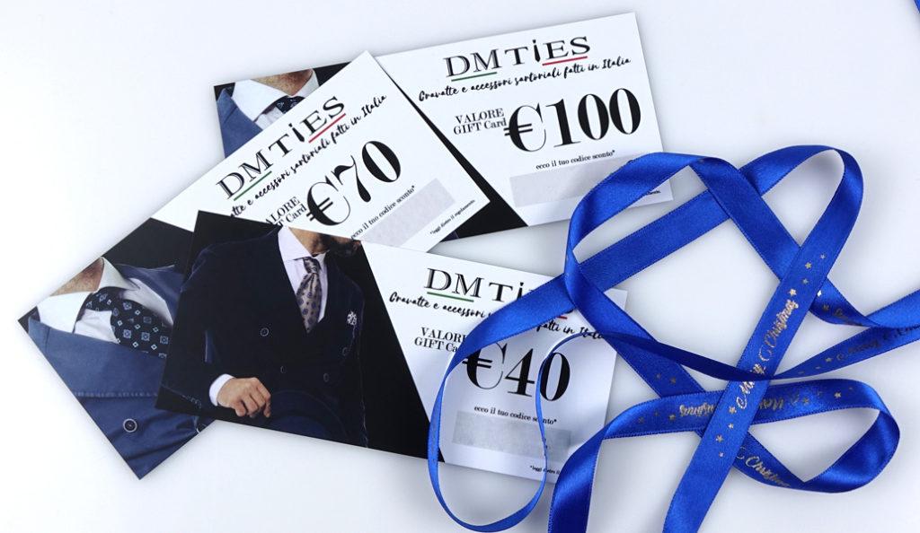 Gift Card DM Ties cravatte accessori abbigliamento sartoriali fatti in Italia