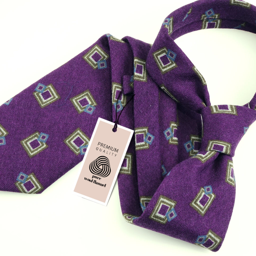 cravatta flanella lana