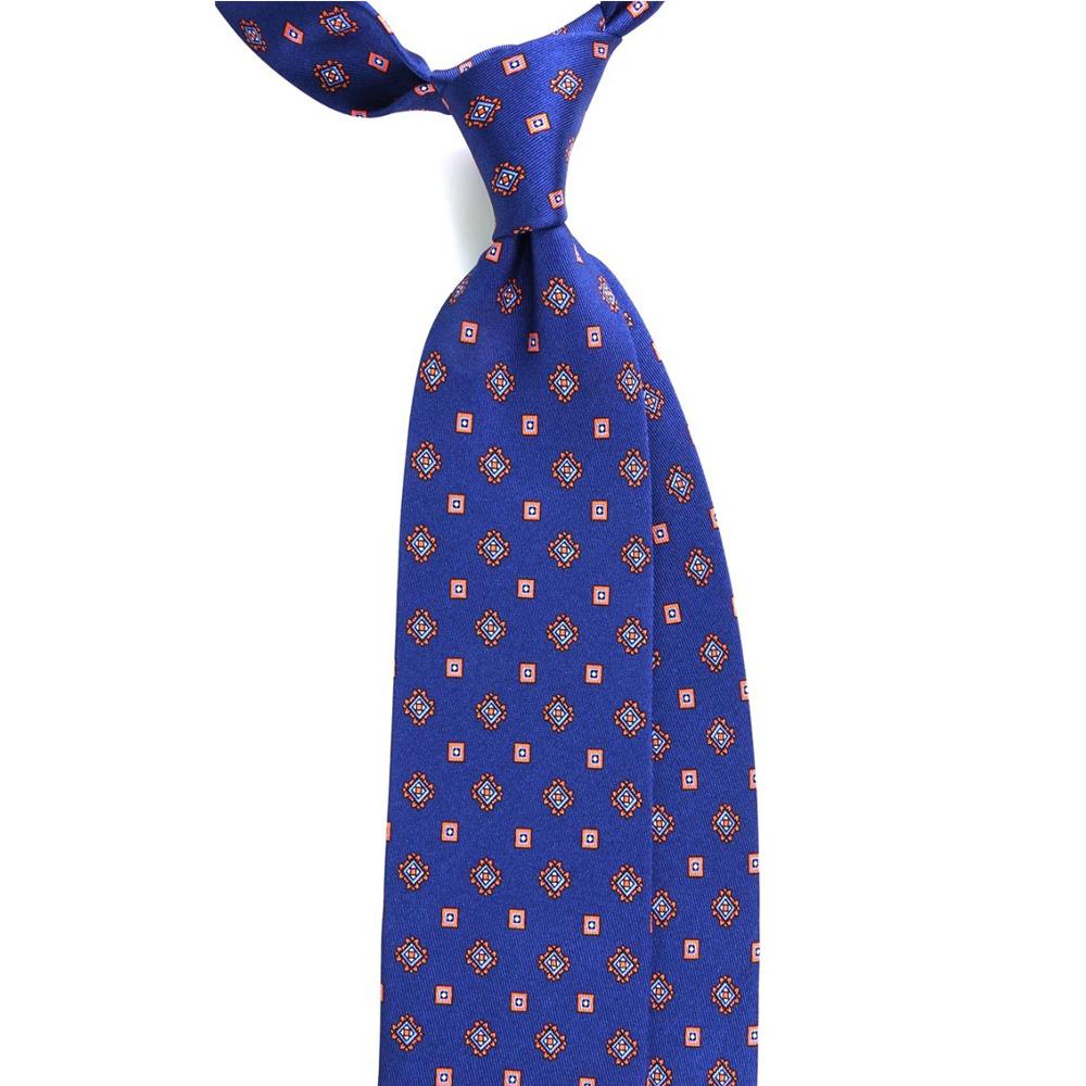 cravatta blu fatta a mano