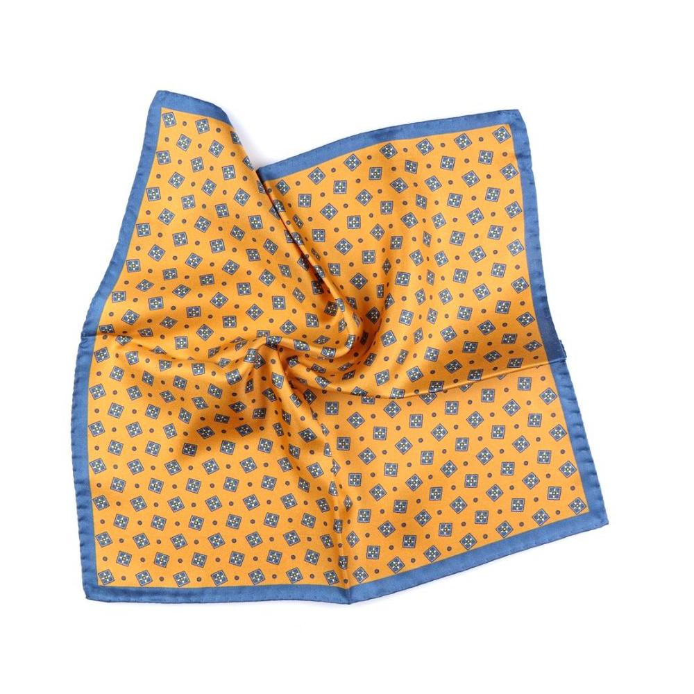 fazzoletto da taschino giallo saffron