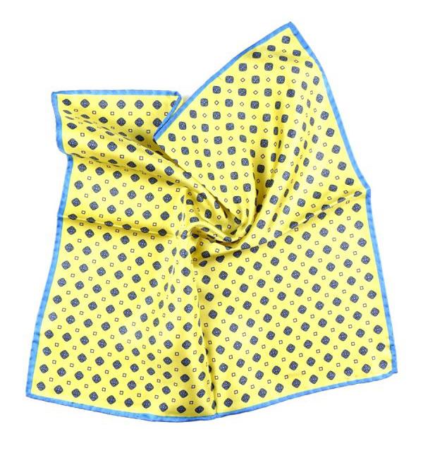 Fazzoletto da taschino giallo Zazà