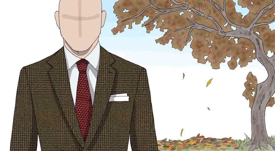 cravatta autunnale invernale