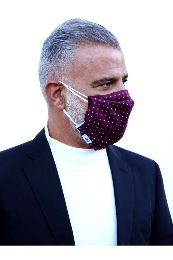 mascherina protettiva DM Ties in seta, fatta a mano