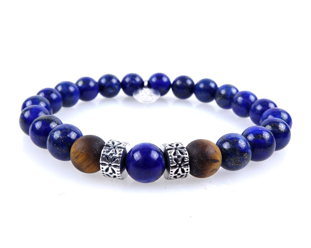 bracciale pietra blu