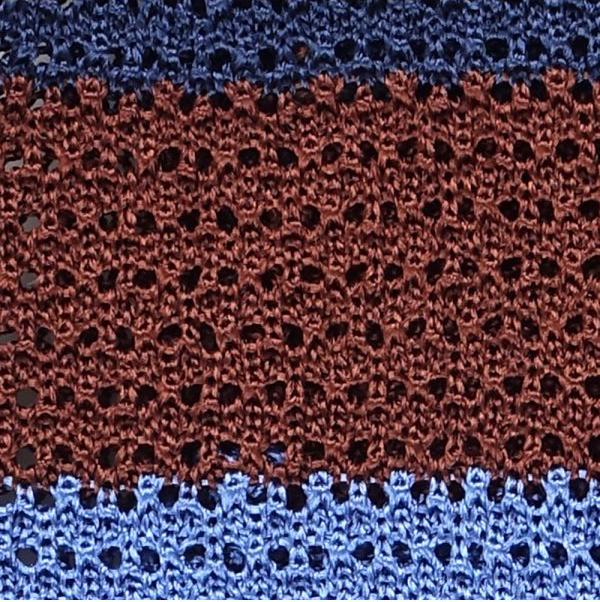 trama cravatta a maglia