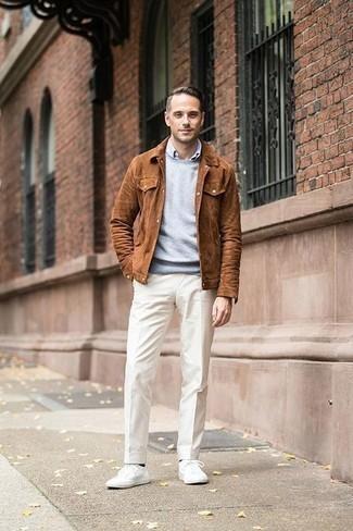 giacca uomo pelle scamosciata
