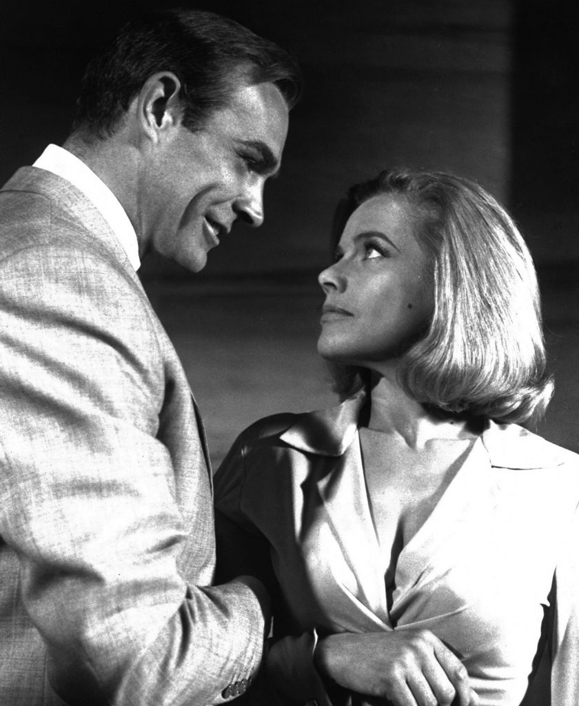 1964. Sean Connery and Honor Blackman.