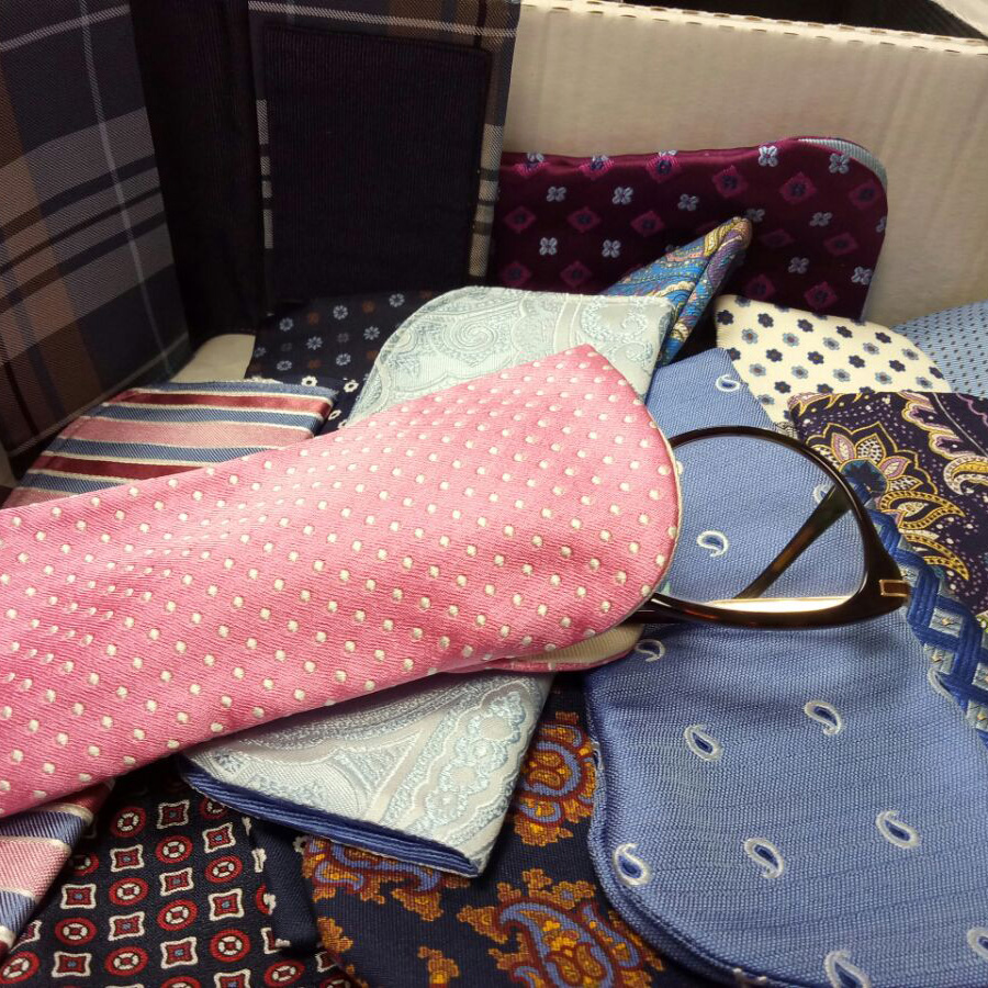some glasses cases present in our shop in Pontecagnano Salerno