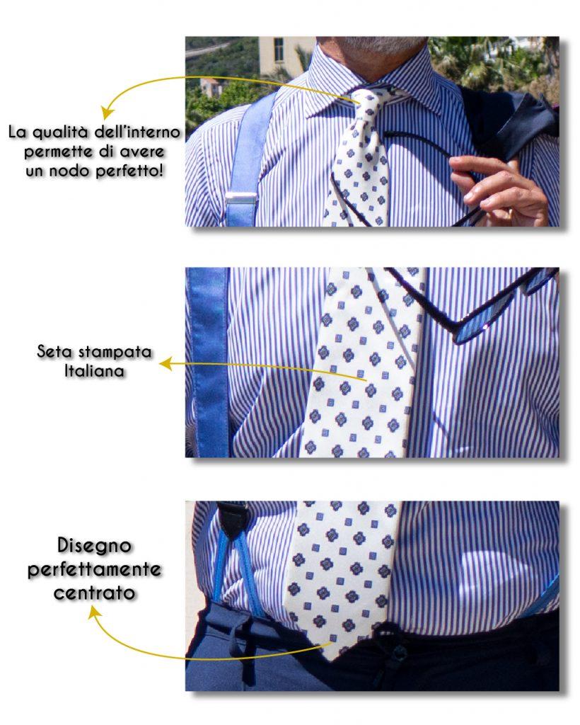 Dettagli della cravatta 3 pieghe DM Ties