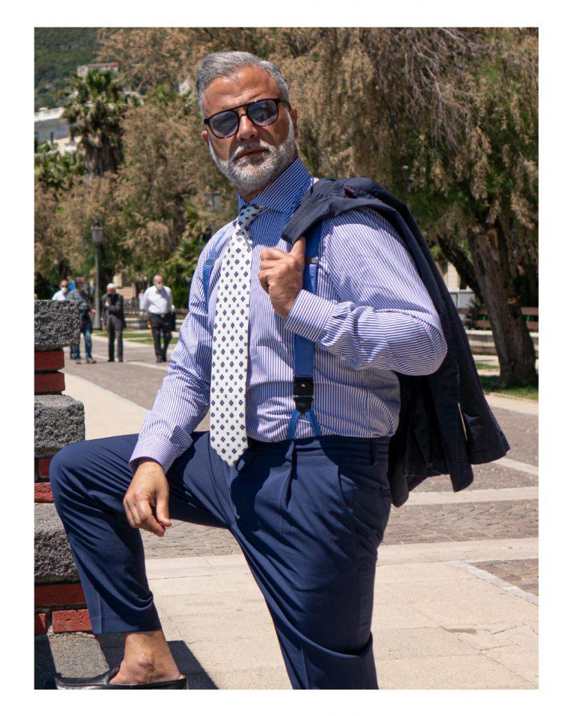 Cravatta estiva DM Ties di colore bianco