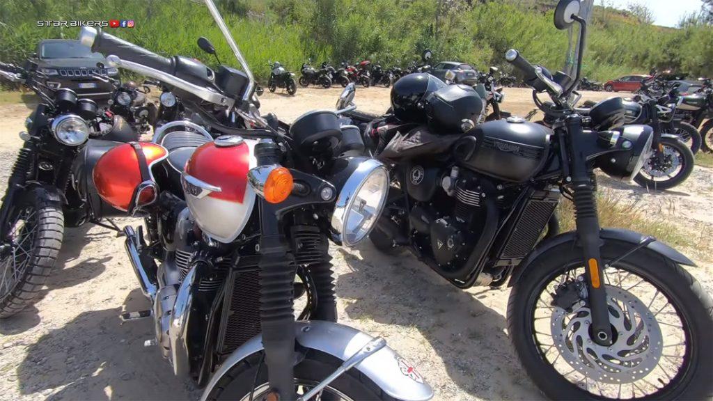 Motociclette Triumph al The Distinguished Gentleman's Ride 2021 Palinuro