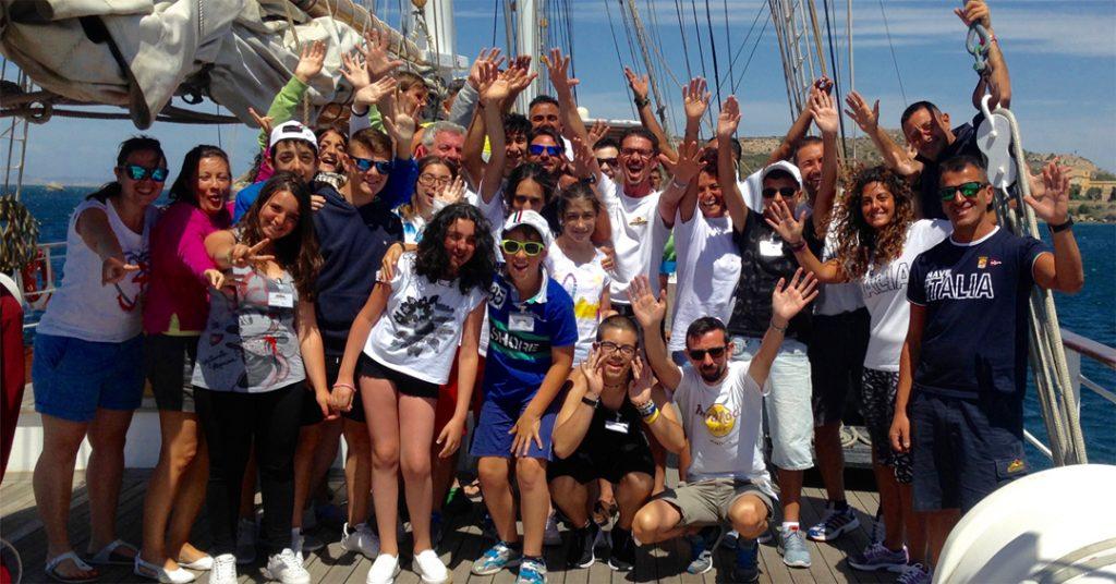 foto di membri della fondazione tender to nave
