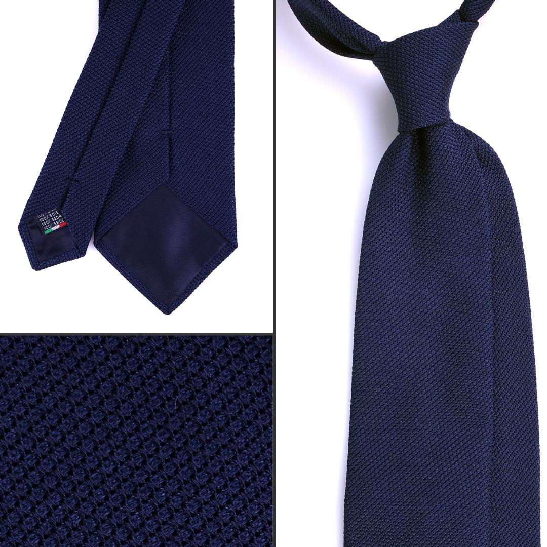 Cravatta blu navy DM Ties