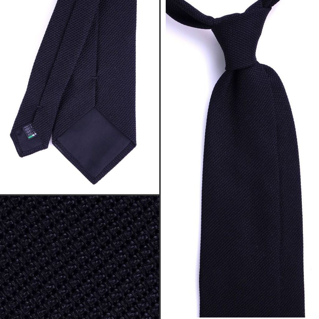 cravatta nera adatta per funerale o cena importante