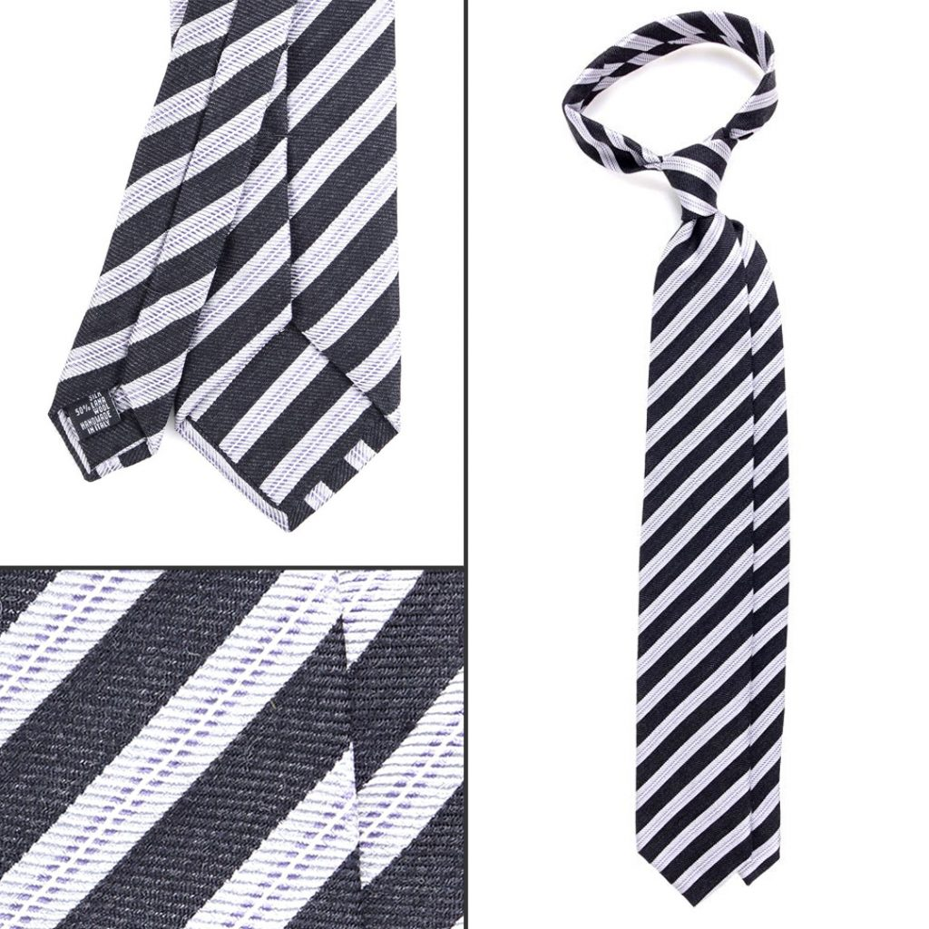 cravatta regimental DM Ties in lana