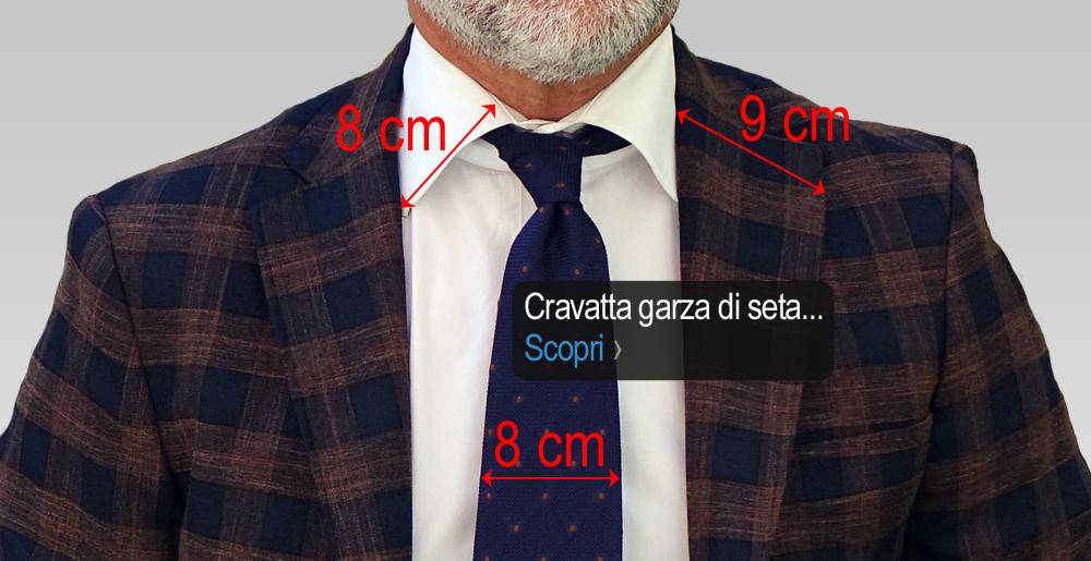 Proporzioni e dimensioni ideali fra cravatta camicia e giacca